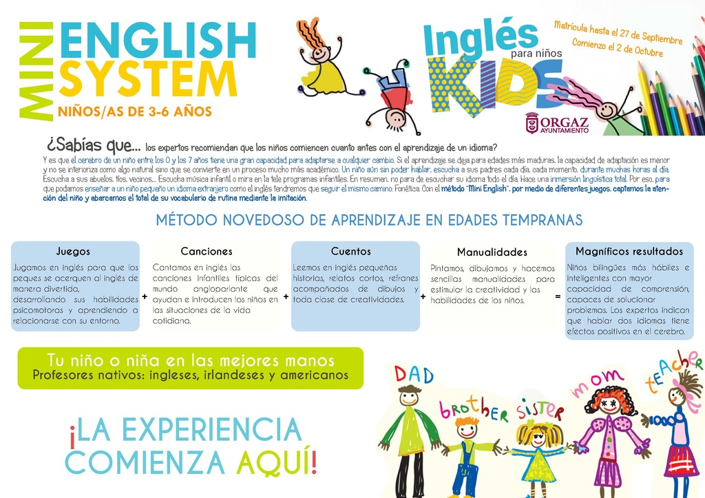 Método Mini English en la Escuela Municipal de Idiomas